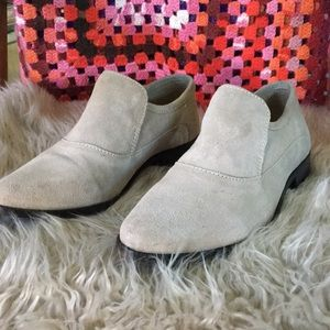 Free people taupe leather loafter new in box